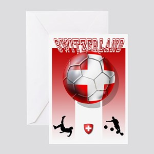 Switzerland Soccer Greeting Cards