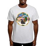XmasMagic/2 Dachshunds Light T-Shirt
