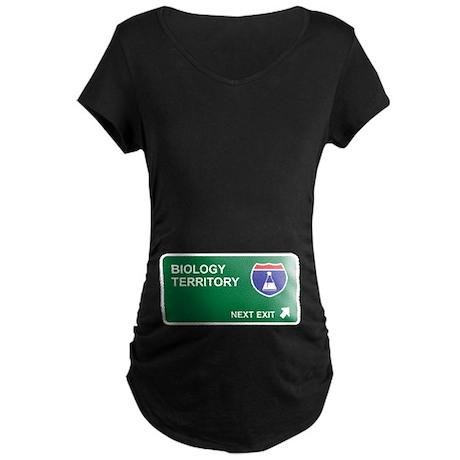 Biology Territory Maternity Dark T-Shirt