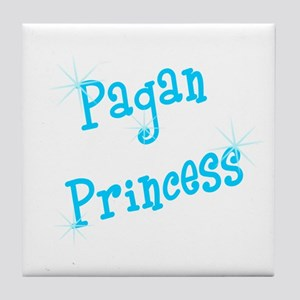 Pagan Princess Teal Tile Coaster