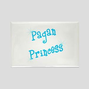 Pagan Princess Teal Rectangle Magnet