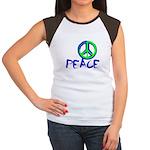 Peace Sign Junior's Cap Sleeve T-Shirt
