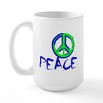 Peace Sign 15 oz Ceramic Large Mug
