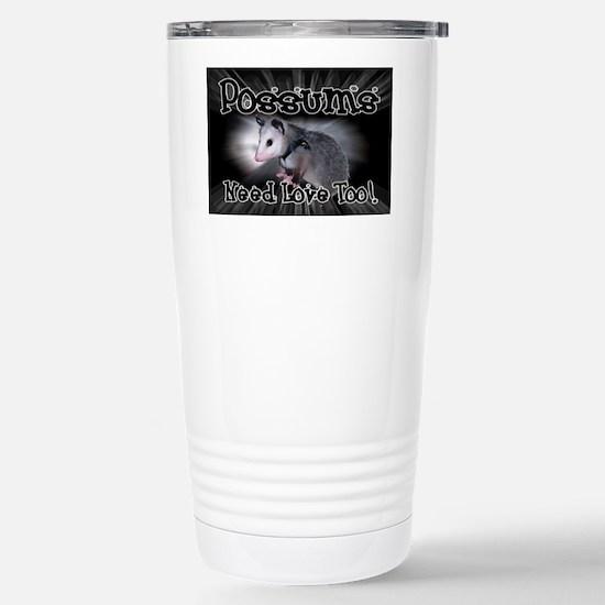 Possums Need Love Stainless Steel Travel Mug
