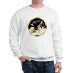 Night Flight/German Shepherd #13 Sweatshirt