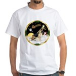 Night Flight/German Shepherd #13 White T-Shirt