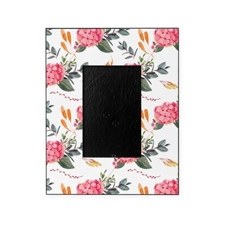Pink Watercolor Florals Picture Frame