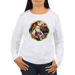 Santa's German Shepherd #15 Women's Long Sleeve T-