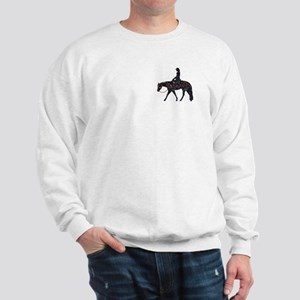 Reining Horse Sliding Stop Flowers Sweatshirt