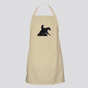 Reining Horse Sliding Stop Flowers BBQ Apron