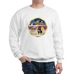 XmasStar/German Shep Pup Sweatshirt