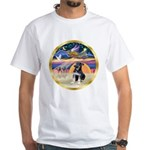XmasStar/German Shep Pup White T-Shirt