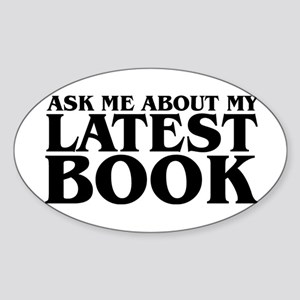 My Latest Book Oval Sticker