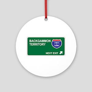 Backgammon Territory Ornament (Round)