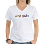 Got ASL? Pastel CC Women's V-Neck T-Shirt
