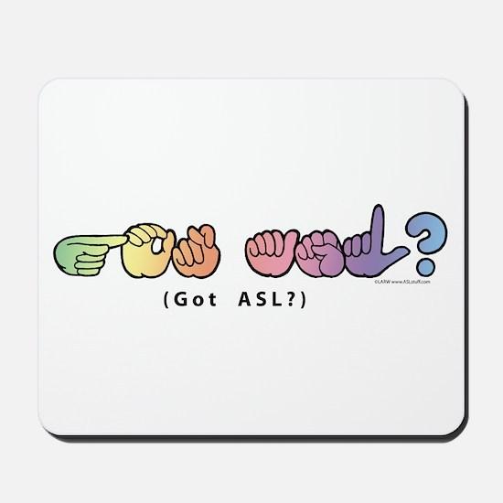 Got ASL? Pastel CC Mousepad