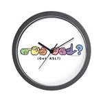 Got ASL? Pastel CC Wall Clock