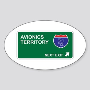 Avionics Territory Oval Sticker