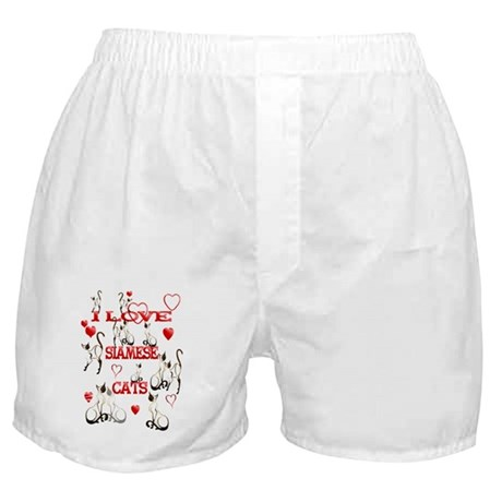 I Love Siamese Cats Boxer Shorts