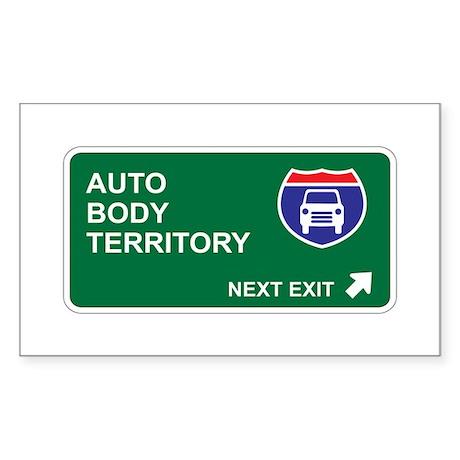 Auto, Body Territory Rectangle Sticker
