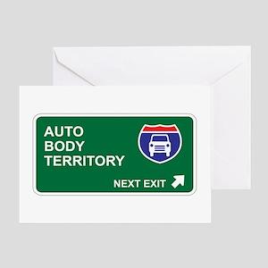 Auto, Body Territory Greeting Card