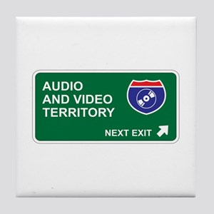 Audio, and Video Territory Tile Coaster