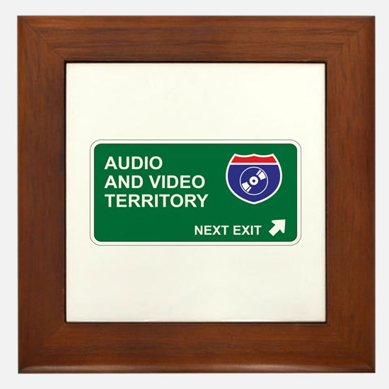 Audio, and Video Territory Framed Tile