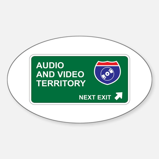 Audio, and Video Territory Oval Decal