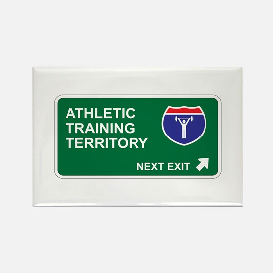 Athletic, Training Territory Rectangle Magnet
