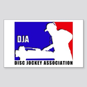 Disc jockey association Rectangle Sticker