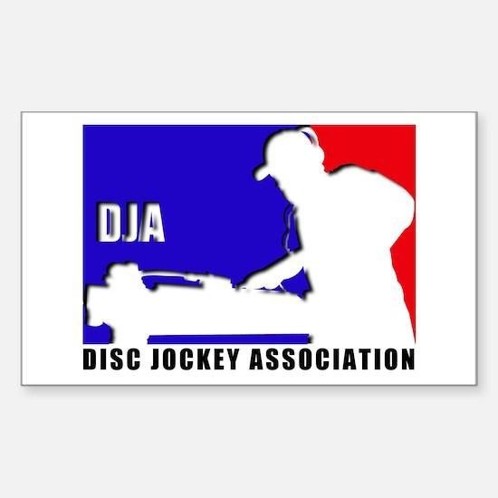 Disc jockey association Rectangle Decal