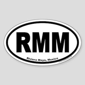 Riviera Maya Mexico RMM Euro Oval Sticker
