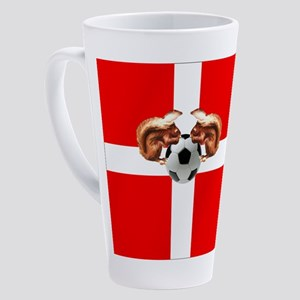 Danish Football Flag 17 Oz Latte Mug