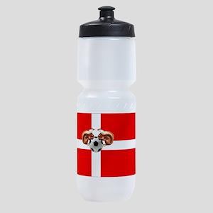 Danish Football Flag Sports Bottle