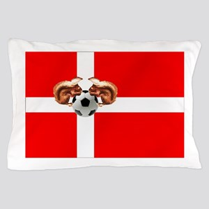 Danish Football Flag Pillow Case