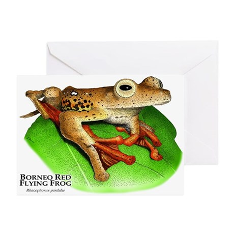 Borneo Red Flying Frog Greeting Cards (Pk of 10)
