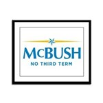 MCBUSH anti McCain Framed Panel Print