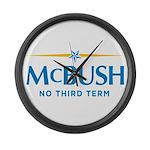MCBUSH anti McCain Large Wall Clock