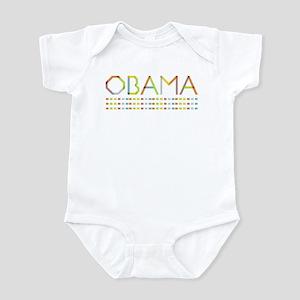 Rainbow Fold Obama Infant Bodysuit