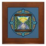 Celtic Sun-Moon Hourglass Framed Tile