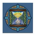 Celtic Sun-Moon Hourglass Tile Coaster