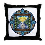 Celtic Sun-Moon Hourglass Throw Pillow
