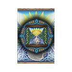 Celtic Sun-Moon Hourglass Rectangle Magnet