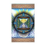 Celtic Sun-Moon Hourglass Rectangle Sticker