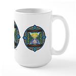 Celtic Sun-Moon Hourglass Large Mug