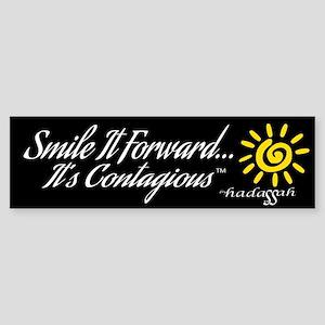 Bumper Sticker - Smile It Forward-Black Background