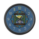 Celtic Sun-Moon Hourglass Large Wall Clock