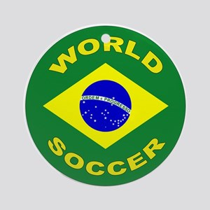 Brazil World Cup 2006 Soccer Ornament (Round)