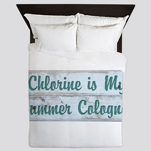 Chlorine is my Summer Cologne Queen Duvet