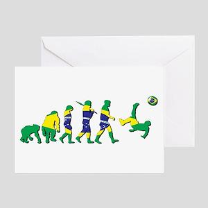 Evolution Of Brazil Football Greeting Cards